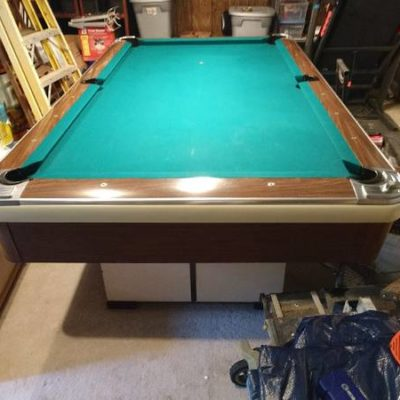 Brunswick Solid Slate Antique Pool Table