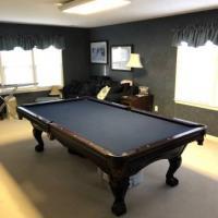 Brunswick 9' Pool Table With Navy Simonis Cloth