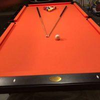 Olhausen Pool Table Orange Felt
