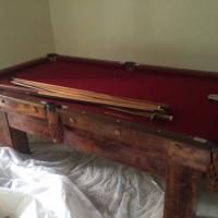 Antique Powers & Vail Pool Table