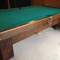 Authentic Saunier Wilhem Company Pool Table