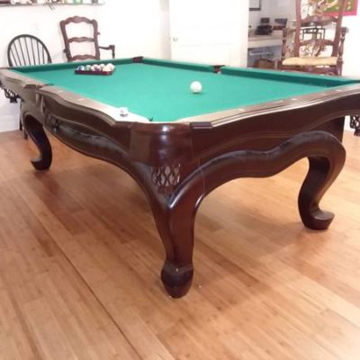 Full Size Pool Table- Mahogany Finish